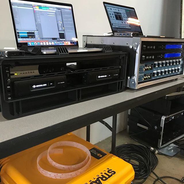 Fun times helping @henrystrange get this  playback rig together today for Coachella.  #uaudio #ableton #motu #radial #iconnectivity