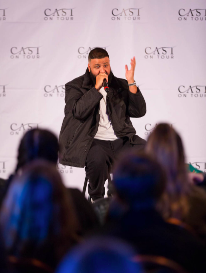 DJ Khaled speaks at CAST on Tour.