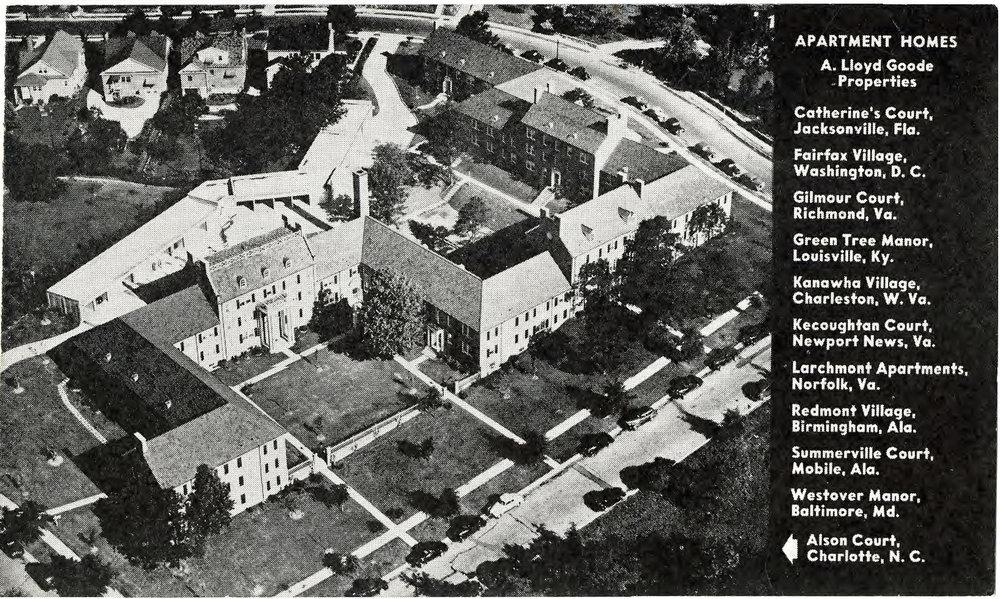 Aerial View Postcard Circa 1939