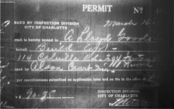 Original 1939 Permit