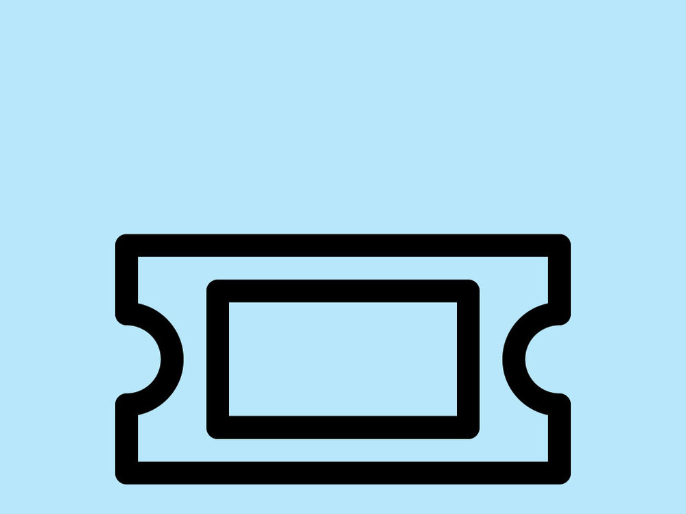 Piktogramm Kultur: Eintrittskarte