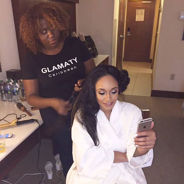 The start of a wonderful night styling hair for @therealtahiry as a host for Sint Maarten Carnival hip hop night featuring @richforever and @frenchmontana #lit  #glamaty #sxm #sintmaarten  #saintmartin #hairstylistamsterdam #celebrityhairstylist #celebrityhair #rotterdamcity #rotterdam #thehague #denhaag #thenetherlands  #dutchbraids #dutchbraid #amsterdam