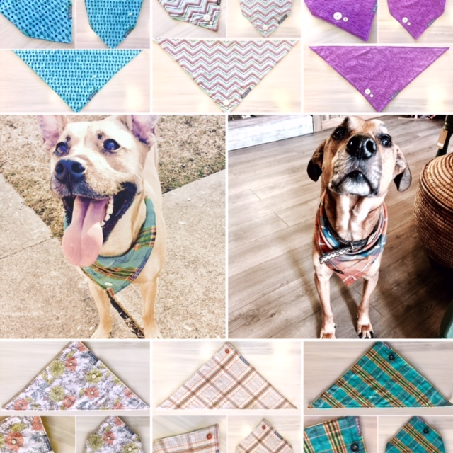 I love Dogs, I love sewing.  So, I make awesome, soft, quality dog bandannas!  $5.00 of each sale goes to shelters in need.  Adopt.  Don't shop!!