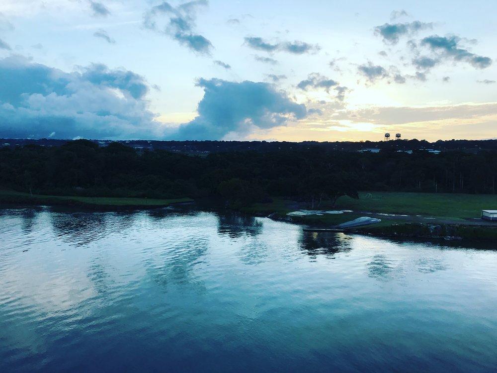 Panama Canal Sunrise - Your Freund Emily