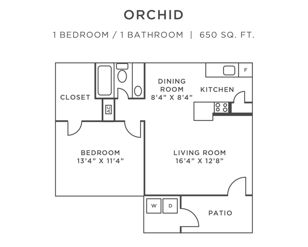 Orchid-FloorPlan-1-bedroom-ParkPlacePortRichey
