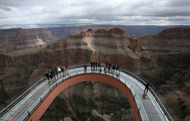 Abbey Meditation: Architect: Mark Ross Johnson / Grand Canyon Skywalk Besides the awe inspiring view from the skywalk, it also obviously speaks about faith. Walking on this glass bridge that cantilevers the Grand Canyon requires faith in the engineer that built it. Similarly, we walk through life with many uncertainties, but it's our faith in God's plan that keeps us confidently on the straight and narrow.