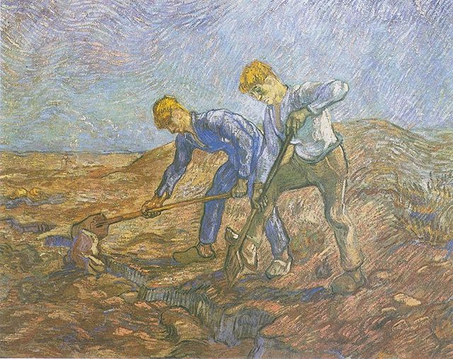 In December 1878 Vincent Van Gogh arrived in the Borinage, a bleak coal- mining district near Mons. He was 25 years old. Drawing was just a hobby — an artistic career was the last thing on his mind. He'd come here as a preacher, with a heart for the people of the area. He cared deeply for them, however struggled with the administration elements of the vocation. Some say the problem was, he was far too pious. He gave away everything he owned. These miners didn't know what to make of him. They called him 'the Christ of the coal mines'. After six months, he was fired by the church. With a broken heart, he left his parish and pursued his hobby of painting.  Many say that Van Gogh suffered from mental illness. While I think this is true, I also believe that he struggled with a deeper passion. The passion to see the beauty in the world among the everyday. I think his discouragement and depression where enhanced by his frustration of others not seeing the value of the beauty he saw. He longed for people to see it, to value it. His heart broke and he began to despair. You can see this reflected in his letters to his brother Theo in talking about his parish of simple people.  May we find and value the beauty of God in the simplicity of life.  #CuratingTheDivine #art #artist#tuesdaypainting #TheAbbeyApp