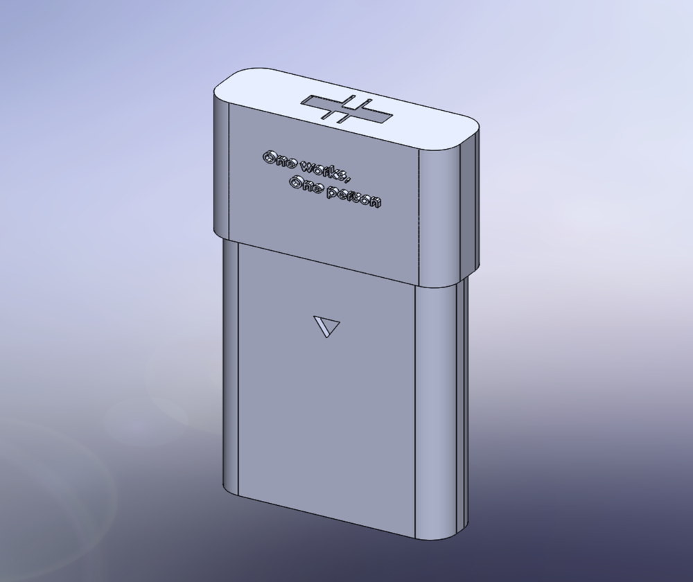 Personal Sharps Bin - After speaking with a needle exchange in Dublin, our group decided to design a personal sharps bin that can fit in one's pocket. By adding specific features to the design, we were able to create a lockable and safe pocket-sized sharps disposal.