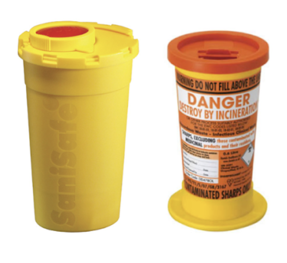 Standard sharps bins... - are size limiting when it comes to personal use and can cost up to €7.50 for an individual bin.
