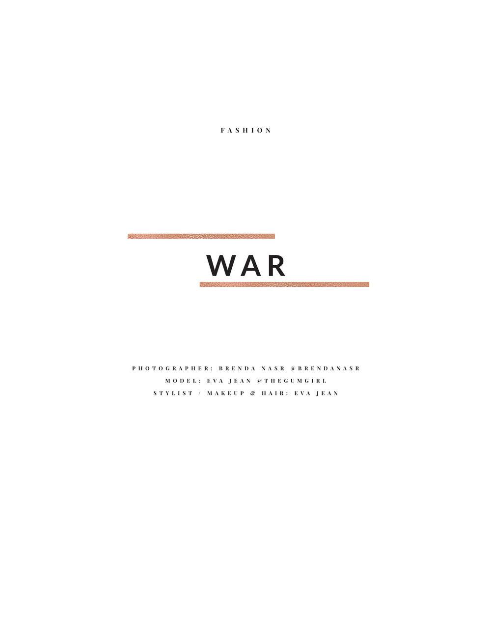 """""""War"""""""