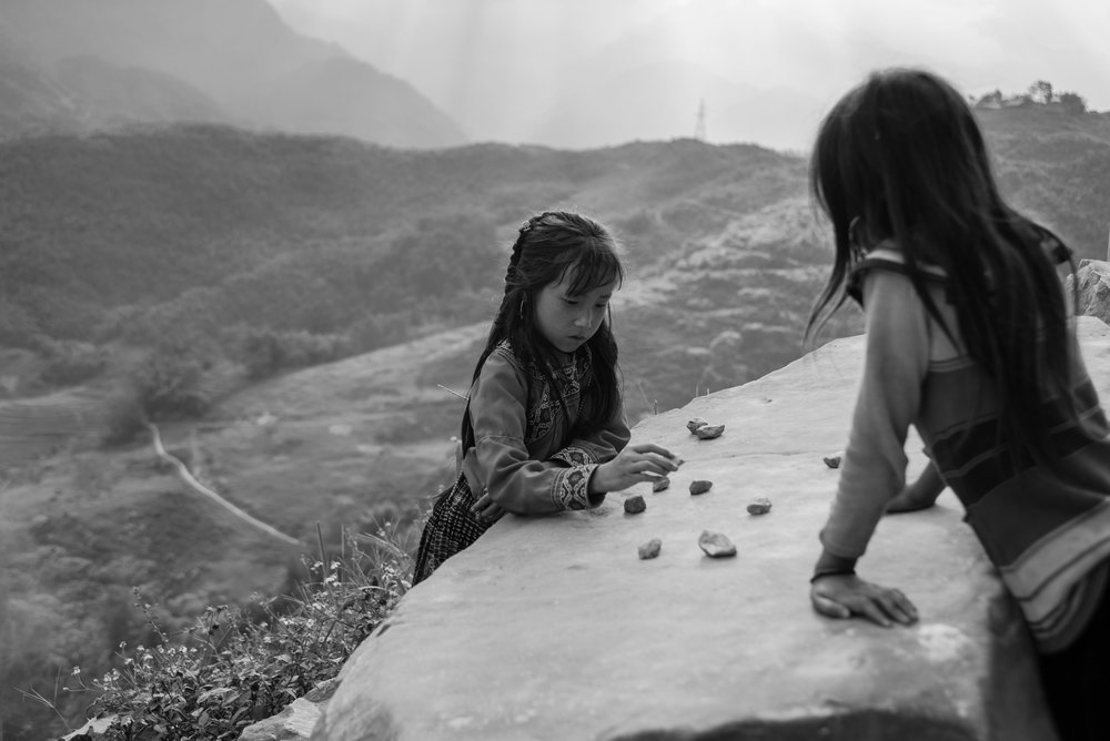 Playing With Stones (from the series: Vietnamese Photographs - North Northwest)