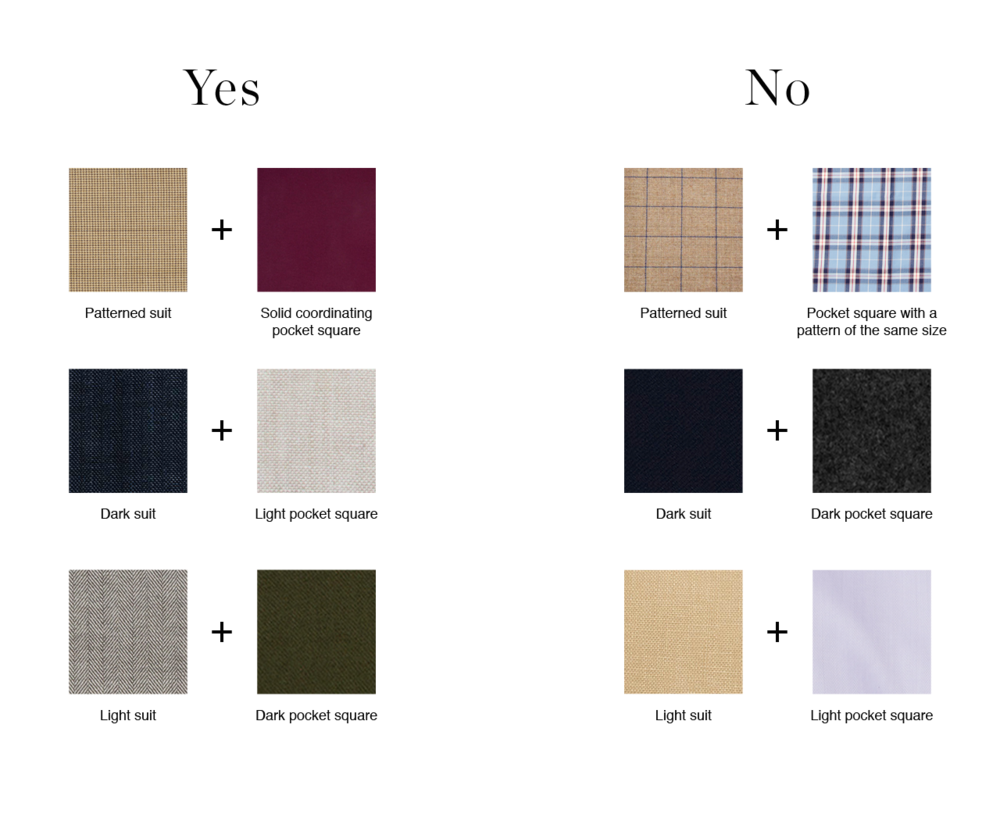 Color Matching Pocket Squares
