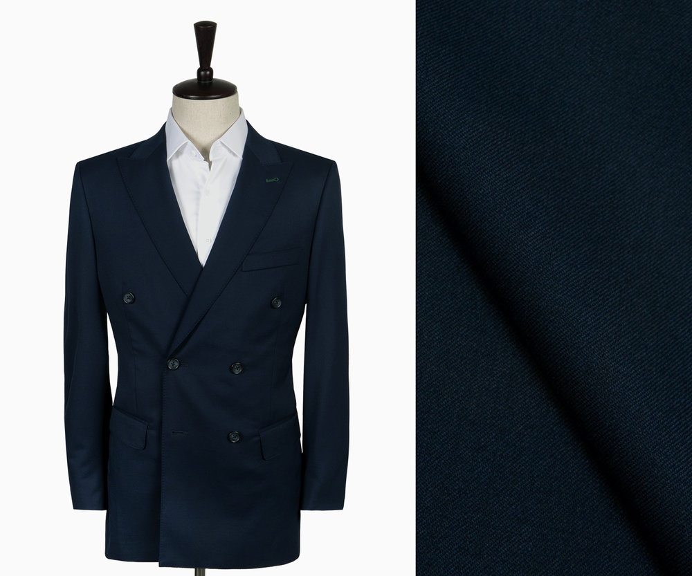 A midnight twill suit.