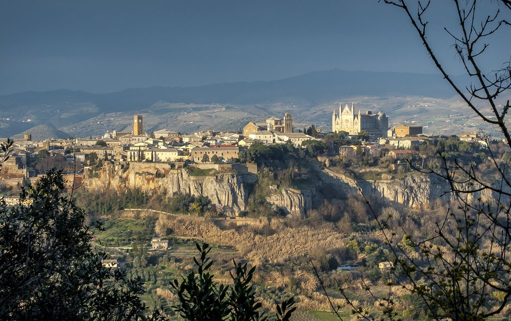 Cliff side image of Orvieto Italy.