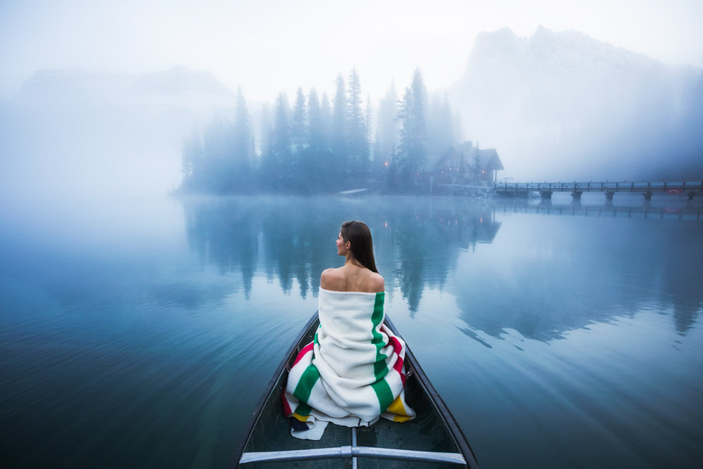 Andrea blanket and canoe shot on Emerald Lake in BC by Michael Matti-XL.jpg