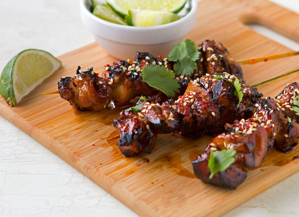 Chicken Sesame Chicken Skewers