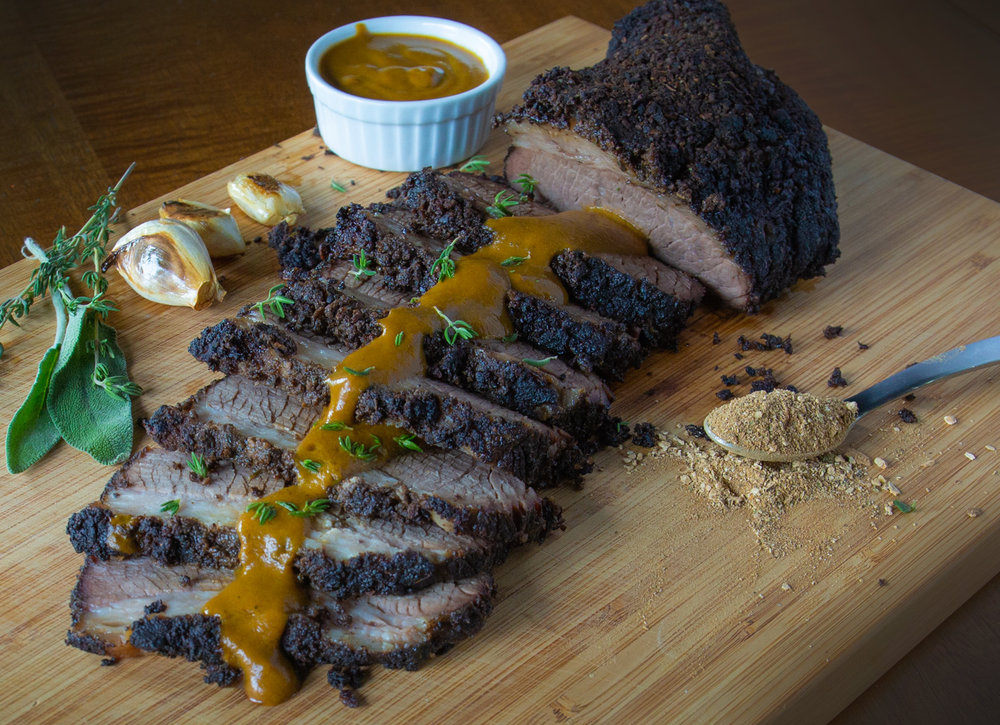 Braised Brisket with Porcini Mushroom Rub