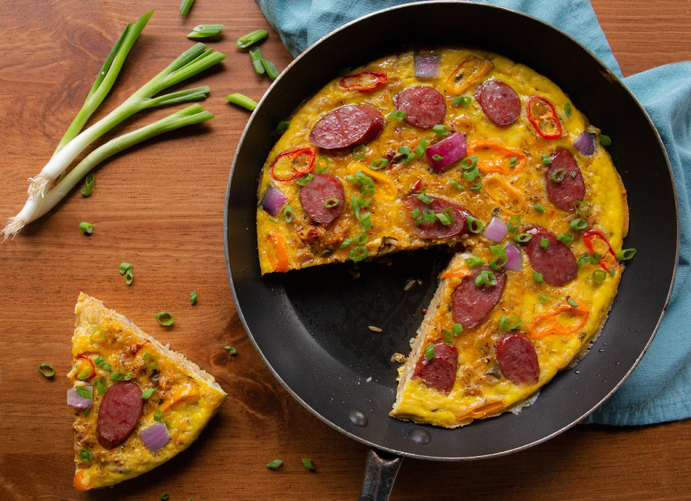 Organic Lowcountry Red Rice Frittata