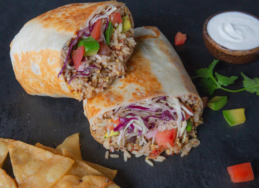 Organic Cuban Mojo Rice & Beans Burrito