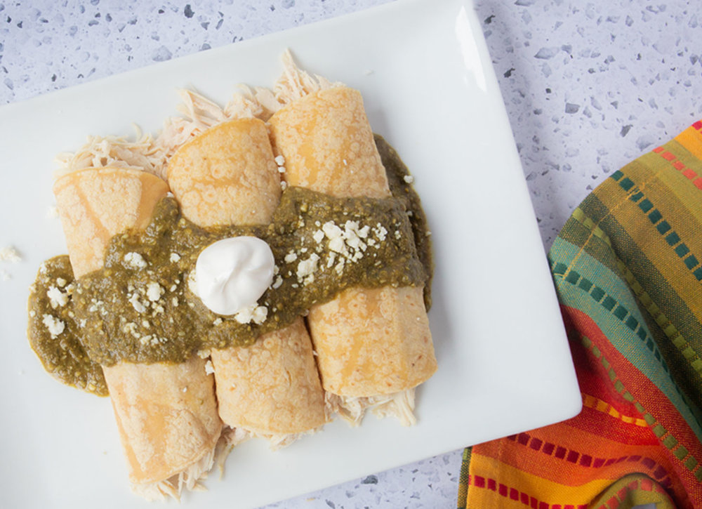 Pipian Mole Verde Enchiladas
