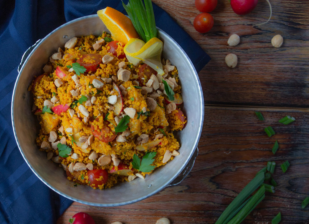 Tunisian Spiced Couscous Salad with Marcona Almonds