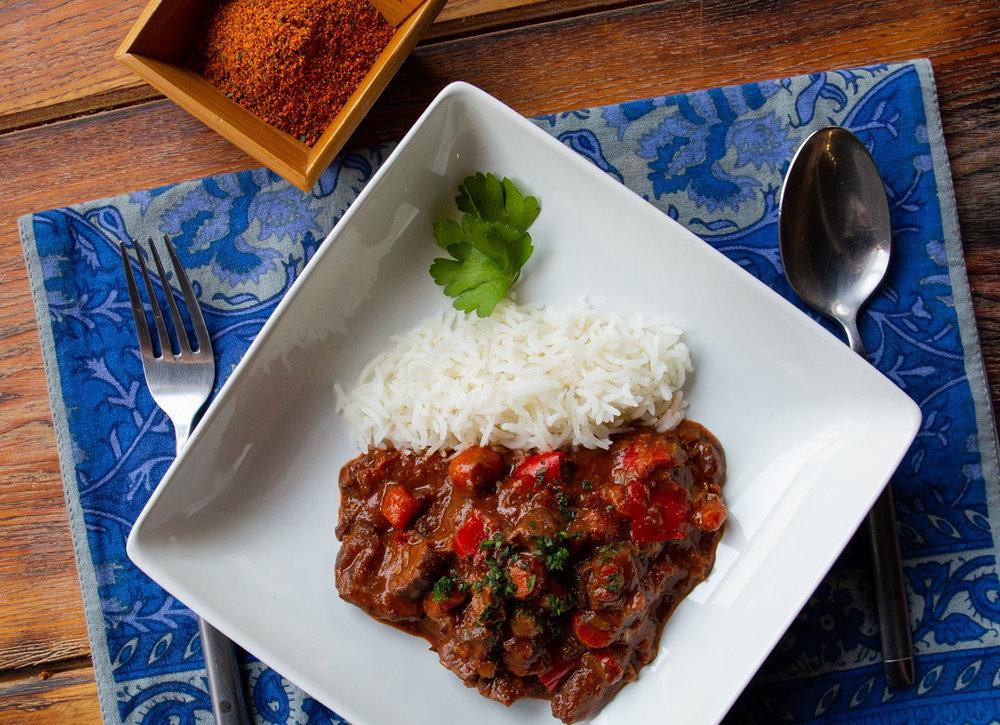 Lamb Stew with Suya Spice
