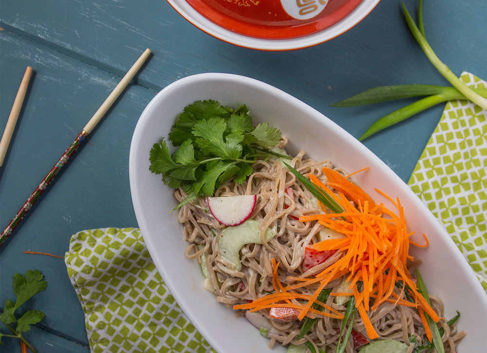 Soba Noodle Salad with Thai Green Curry Dressing