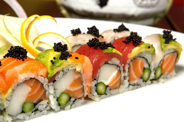 Our Rainbow Roll is incredible to look at AND eat!