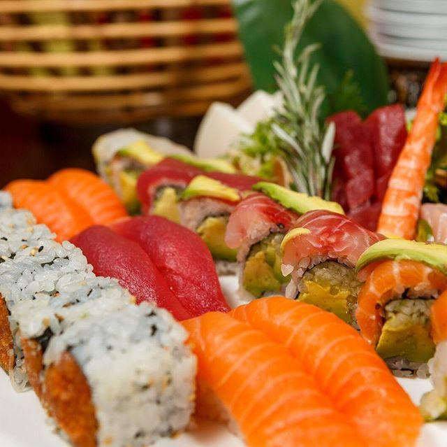 Now THAT'S a sushi platter! Excite your guests with catering from Cucumber sushi!