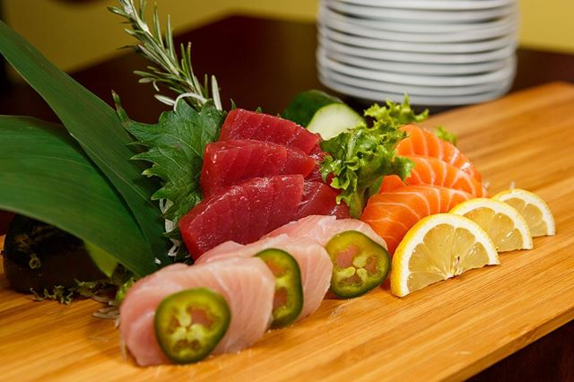 Fresh sashimi is waiting for you at Cucumber Sushi.