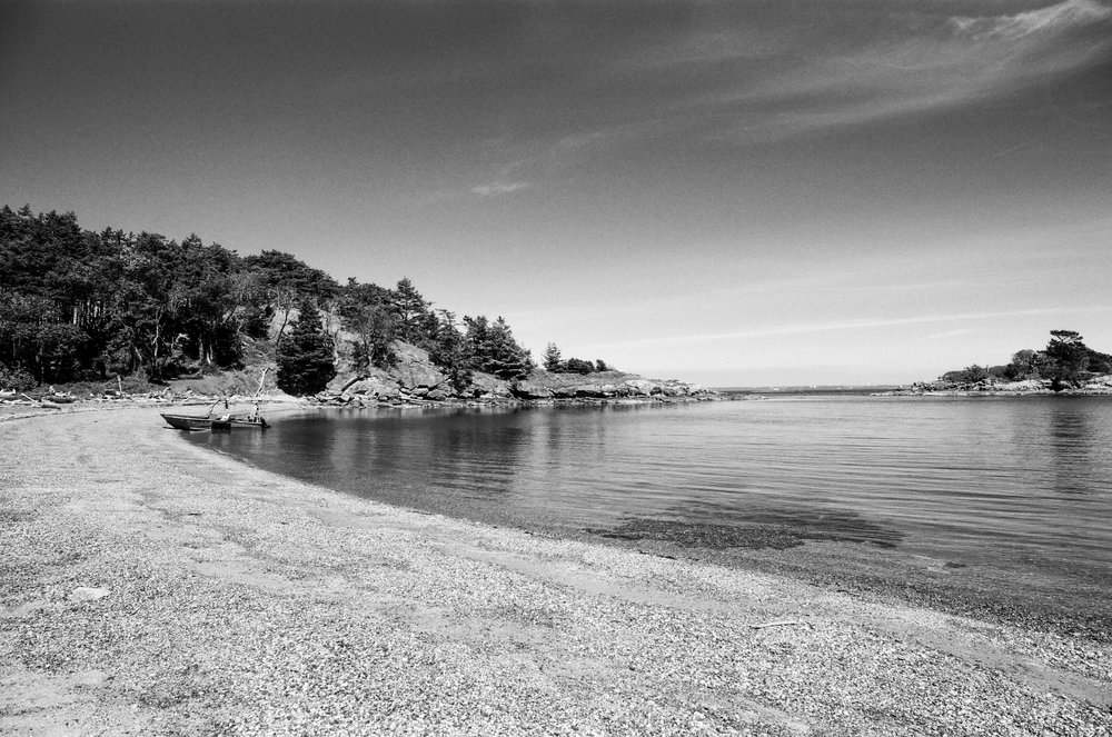Ewing Cove, Sucia Island, Washington. Fuji Acros 100