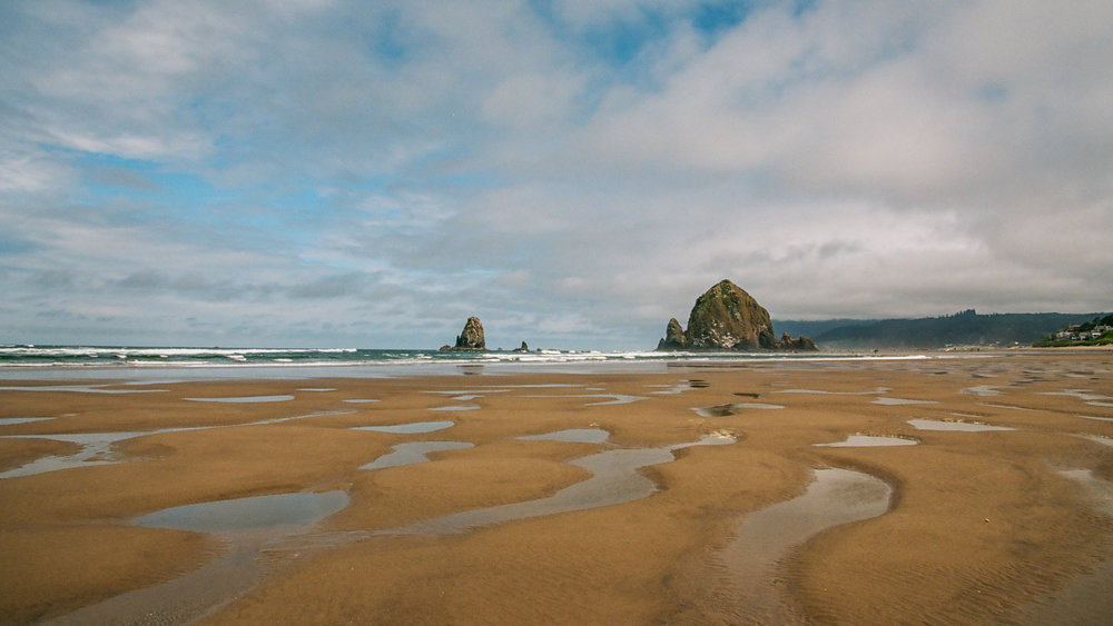 Haystack Rock, Cannon Beach, Oregon. Kodak Ektar 100