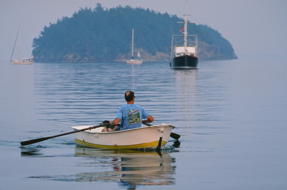 Smoke on the Water, Sucia Island, Washington. Fuji Provia RDP 100f