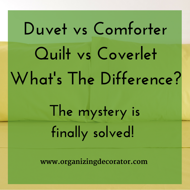 what is the difference between a duvet and a comforter the