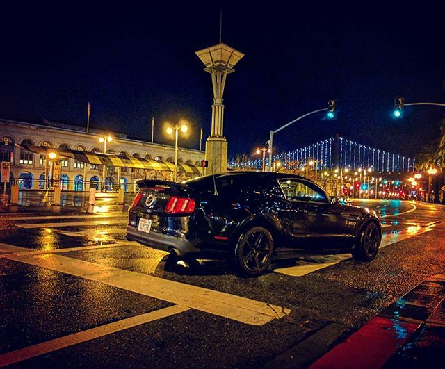 When the city sleeps, I will be your silent guardian, a watchful protector. The SLYSTR . . #SLYSTR #mustang #mustanggt #mustanggt2010 #mustang4life #ford #americanmuscle #blackmustang #IAmNotACarIAmAMustang #mustanglovers #lovemustang #mustangram #drivetothewest #goldenstate #californialovin #california #bayarea #sanfrancisco #sfliving #photooftheday #instagood #visitsanfrancisco #mustangfamepage #mustangoftheday #mustangsdaily #fullofmustangs #ferrybuilding #embarcadero #silentguardian #baybridge