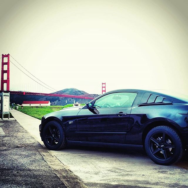 Gray skies are just clouds passing over, endure !!! #SLYSTR #mustang #mustanggt #mustanggt2010 #mustang4life #ford #americanmuscle #blackmustang #IAmNotACarIAmAMustang #cargasm #mustanglovers #lovemustang #mustangram #drivetothewest #goldenstate #californialovin #california #bayarea #sanfrancisco #sfliving #photooftheday #instagood #visitsanfrancisco #mustangfamepage #mustangoftheday #mustangsdaily #fullofmustangs #karlthefog #grayskies #goldengatebridge