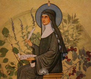 Hildegard von Bingen divining her Scivias