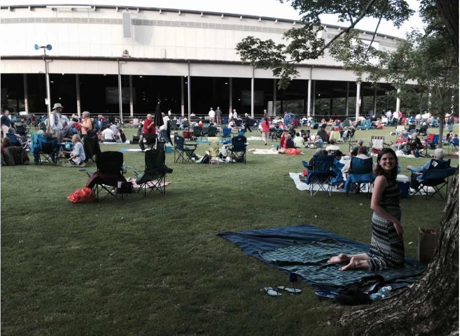 Pics from our first picnic night in Tanglewood