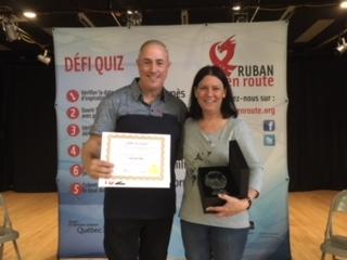 Mme Anne Pépin, la récipiendaire 2018! ...de l'école Jean Jacques Rousseau.