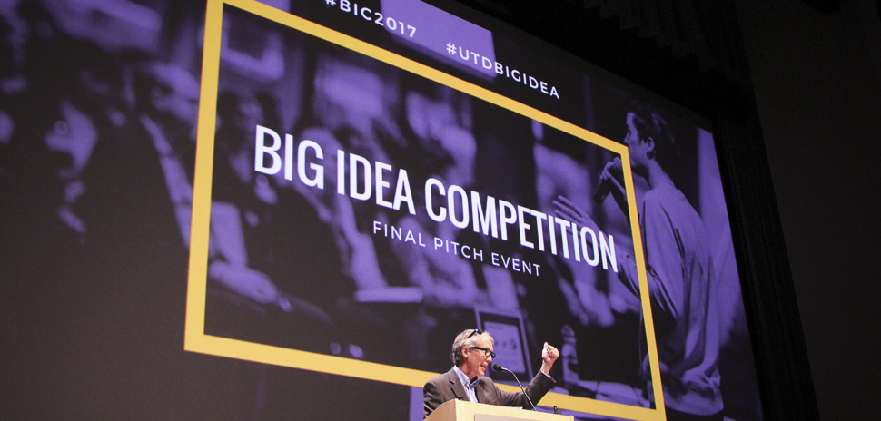 Steve Guengerich speaks at the UTD Big Idea Competition 2017.
