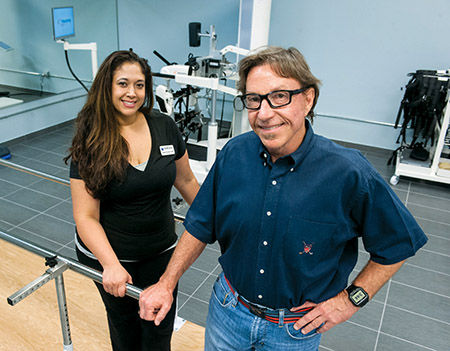 Commercial real estate developer Bruce Conti and physical therapist Jennifer Zoll (Photo by Jon P. Uzzel)