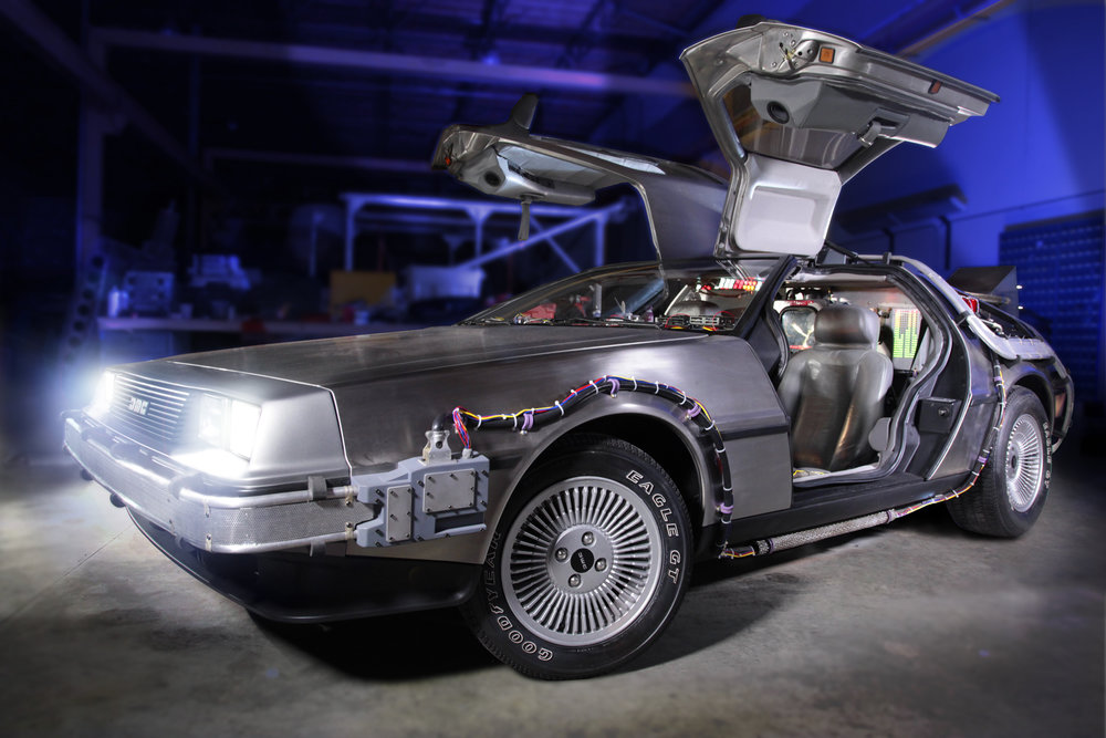On  Sunday, April 24th , DeLorean owners are invited to bring their cars to the Petersen for a DeLorean themed  Breakfast Club Cruise-In . All car enthusiasts are invited to participate in the car show and contest on the 3rd floor of the museum's parking structure. Awards will be given for Best-In-Show, People's Choice and Petersen Perfection.  Car fans and movie buffs have been captivated by the original stainless steel time machine since 1985, when it first took Marty McFly on a journey through time. The obsession grew with the subsequent releases of Back to the Future II (1989) and Back to the Future III (1990). Following the last installment, the famed DeLorean was on display at Universal Studios Hollywood and restored in 2010. Guests can continue to experience elements of the film aboard Universal Studios Hollywood's renowned Studio Tour where the famous Courthouse Square and clock tower are situated.  For information on tickets visit  www.petersen.org/backtothefuture