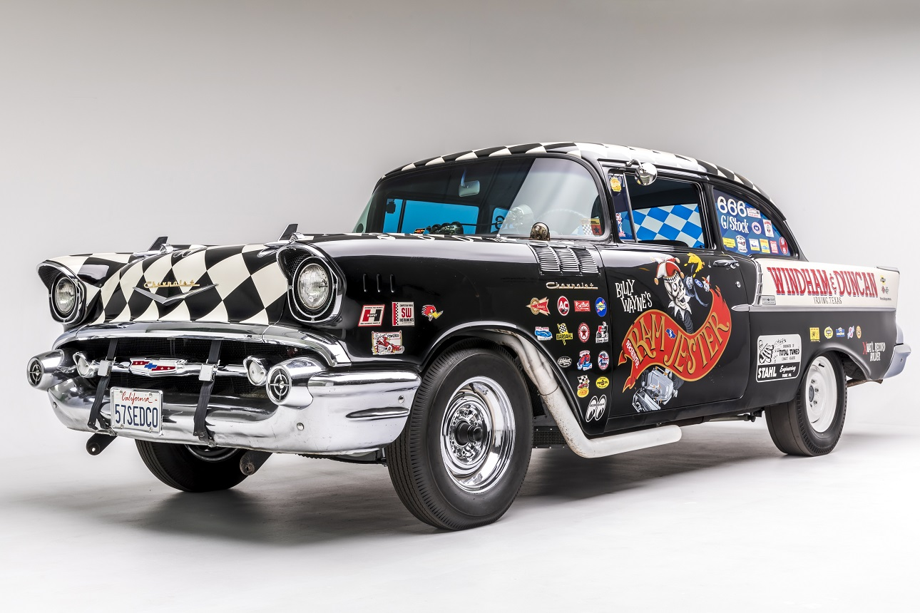 Donation Spotlight 1957 Chevrolet Black Widow Petersen 57 Chevy Bel Air Rear Bumper Automotive Museum Los Angeles
