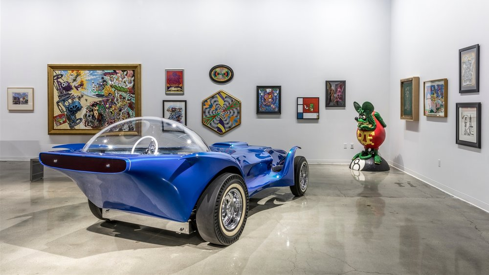 New exhibit featuring kustom kulture and contemporary art now on display at the Petersen Automotive Museum -