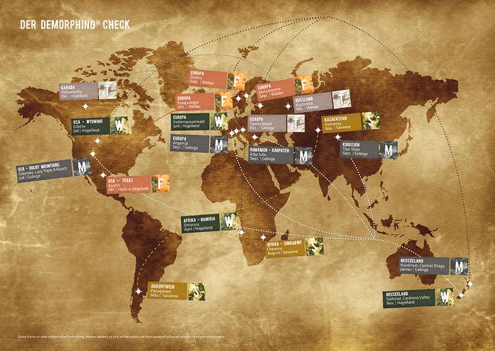 Var du befinner dig i världen påverkar vilken av X jagds kamouflager som passar bäst.