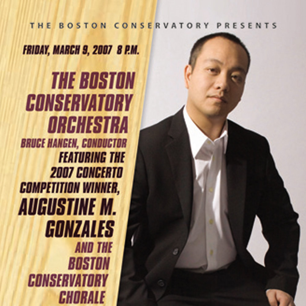 George Gershwin:  Piano Concerto in F   [The Boston Conservatory Orchestra; Bruce Hangen – conductor]