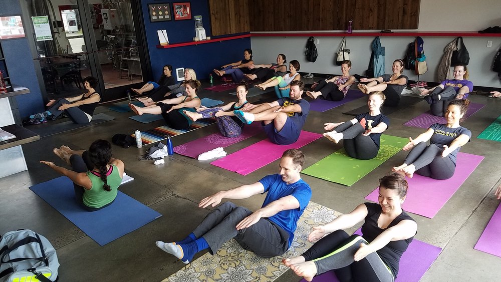 Image from June 4th Pilates & Pints class