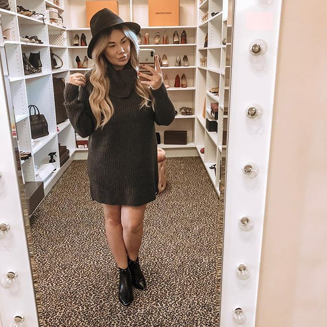 Target has an amazing sale that ends today babes! 🙋🏼‍♀️ Spend $50 on all clothing items get a $10 gift card 👯 Spend $100 or more on any clothes for your entire family get a $25 gift card! 🙌🏻 I am loving this sweater dress for thanksgiving because it is cute AND comfy! Shop for the whole family, today! 🤗 Watch my stories for the coupon and link for this dress! I may or may not have gotten it in 3 colors but hey 🤷🏼‍♀️ it's basically on sale!