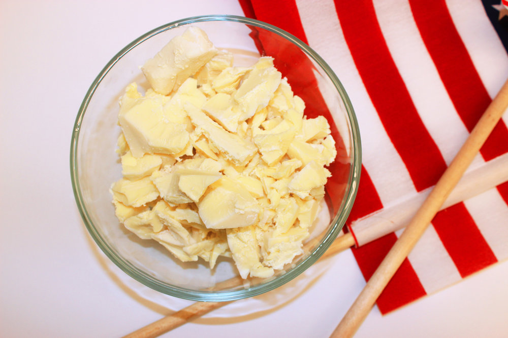 3. Add white chocolate to microwave safe bowl