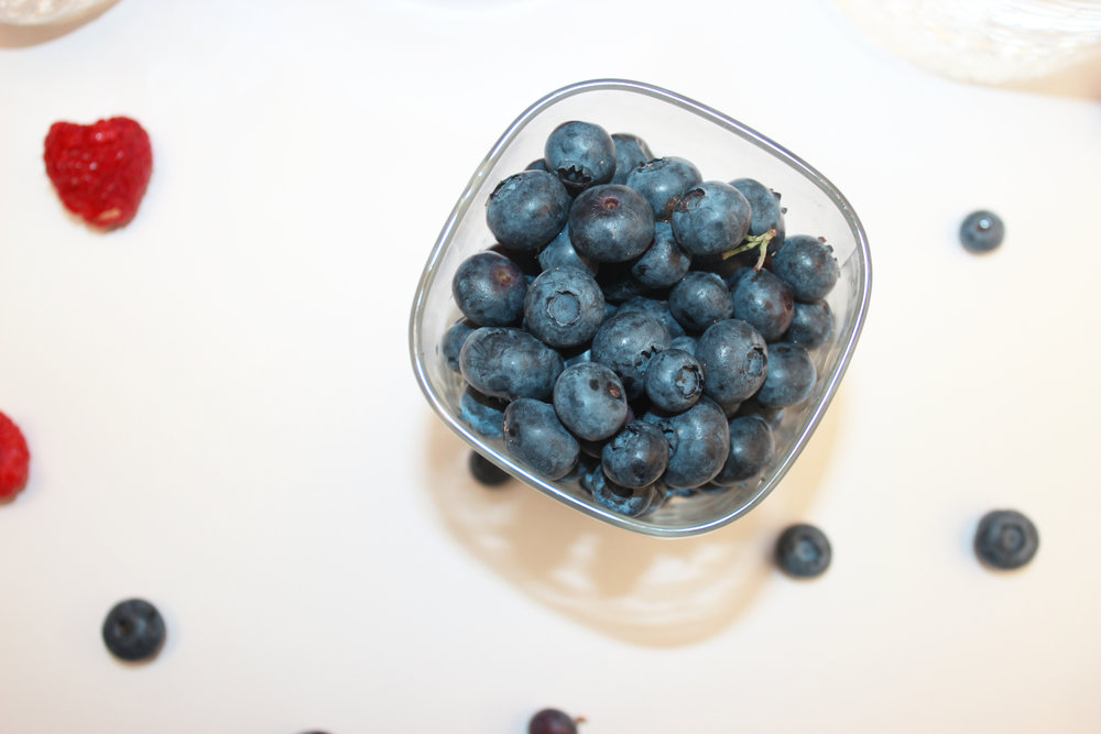 2. Wash and dry blueberries